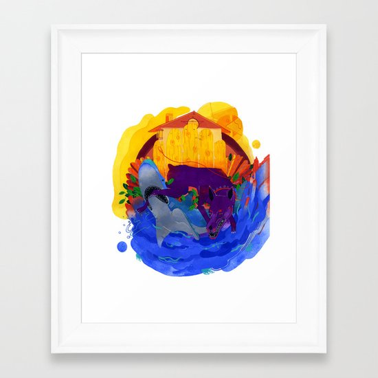 Friend & Foe Framed Art Print