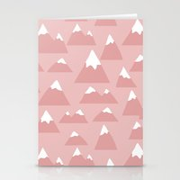 Mountain Pattern Stationery Cards