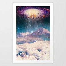 Descending worlds Art Print