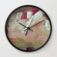 Abstract Purple Green Sky Wall Clock