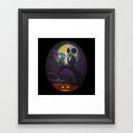 Jack&Sallyowls2 Framed Art Print