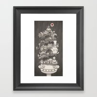 Off the Top of My Head Framed Art Print