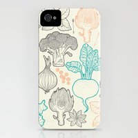 iPhone 4s & iPhone 4 Cases featuring I love vegetables! by smallDrawing
