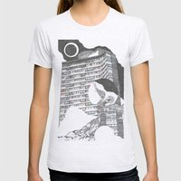 Full Moon Womens Fitted Tee Ash Grey SMALL