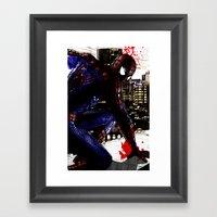 Spiderman In London Clos… Framed Art Print