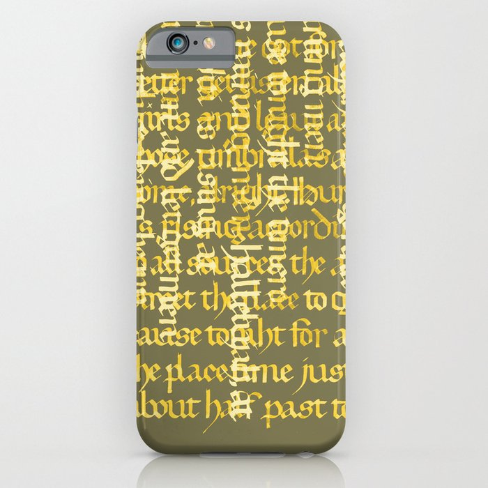 Calligraphy Gothic Iphone Ipod Case By Cami Landia