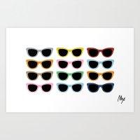 Sunglasses #4 Art Print