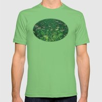 Flowers of the Field Mens Fitted Tee Grass SMALL