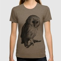 Wise Owl Womens Fitted Tee Tri-Coffee SMALL