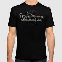 Wanderer Mens Fitted Tee Black SMALL