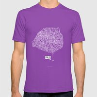 Spidermaps #1 Light Mens Fitted Tee Ultraviolet SMALL