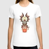 Trick-or-Treat Totem Womens Fitted Tee White SMALL