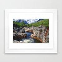 Glen Etive Waterfall Framed Art Print