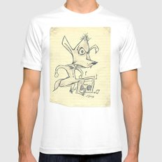 Skanking Wolf White Mens Fitted Tee SMALL