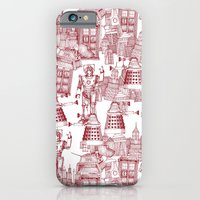 Doctor Who Toile de Jouy | 'Walking Doodle' | Red iPhone 6 Slim Case