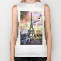 Eiffel Tower Paris Biker Tank