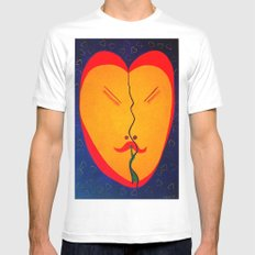 Happy Heart Mens Fitted Tee SMALL White