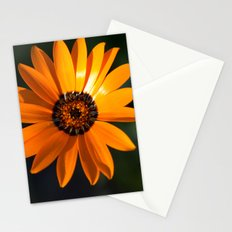 Vibrant Orange Flower Stationery Cards