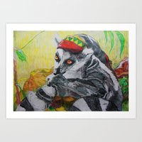 Am I El' Lemur?? Or Am I… Art Print