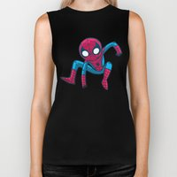 Does whatever a spider can! Biker Tank