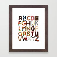 Candy Alphabet Framed Art Print