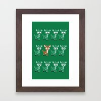 Look, It's Rudolph! (v2) Framed Art Print