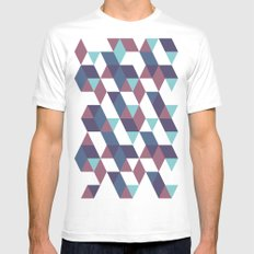 Trangled White SMALL Mens Fitted Tee