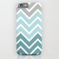 THIN BLUE FADE CHEVRON iPhone 6 Slim Case