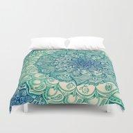 Emerald Doodle Duvet Cover