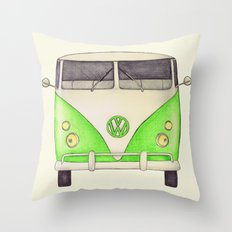 VW Type 2 Throw Pillow