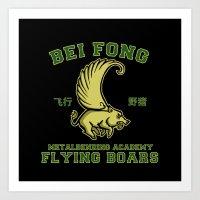 Bei Fong Academy Flying … Art Print
