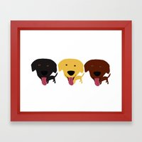Labrador Dogs Black Yell… Framed Art Print