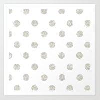 Grey Dots Art Print