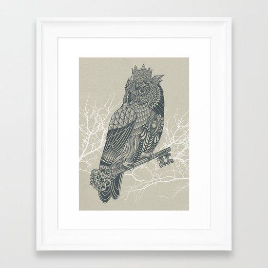Owl King Framed Art Print