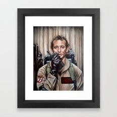 Bill Murray / Ghostbuste… Framed Art Print