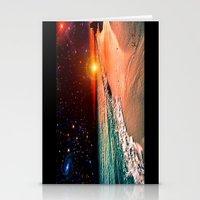 Galaxy Beach Stationery Cards