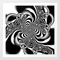 In The Gray Art Print