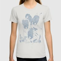 Mermaids Womens Fitted Tee Silver SMALL