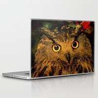 owls Laptop & iPad Skins featuring Owls by Ganech joe