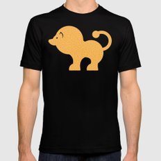 Fun at the Zoo: Lion Mens Fitted Tee Black SMALL