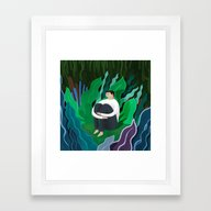 Framed Art Print featuring Lost by Mark Conlan