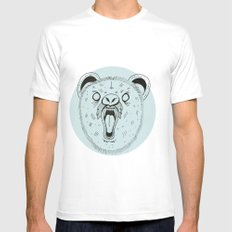 THE BEAR Mens Fitted Tee SMALL White