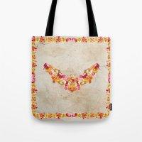 Floral Bat Tote Bag