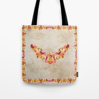 Floral Bat Tote Bag