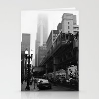 El On A Foggy Day Chicag… Stationery Cards