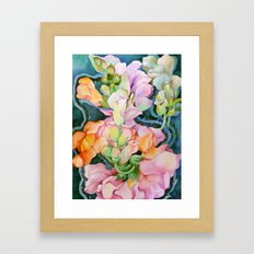 Colorful in the dark Framed Art Print