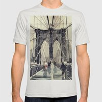 Brooklyn Bridge Mens Fitted Tee Silver SMALL