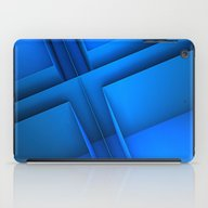 Clean Lines (Blue) iPad Case