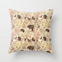 pattern Flowers Throw Pillow