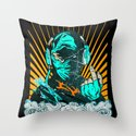 Ninja Beats Throw Pillow
